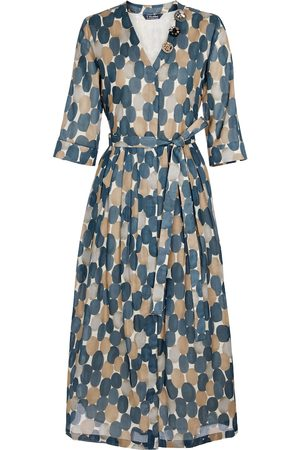 Max Mara Kvinder Mønstrede kjoler - Pesche printed cotton midi dress