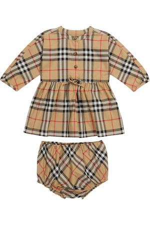 Burberry Baby Vintage Check stretch-cotton dress and bloomers set