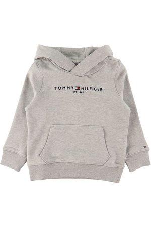 Tommy Hilfiger Hættetrøje - Essential - Organic - Gråmeleret