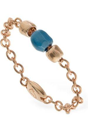 Dodo 9kt & Turquoise Ceramic Granelli Ring