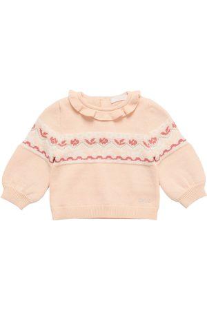Chloé Piger Strik - Jacquard Cotton & Lurex Knit Sweater