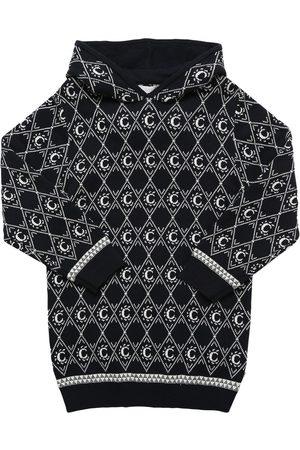Chloé Hooded Cotton & Wool Knit Dress