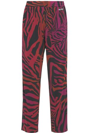 KOCHÉ Tiger Print Viscose Jersey Sweatpants