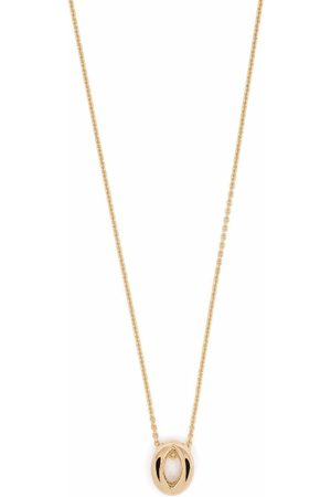 Le Gramme 18kt yellow gold 3g entrelacs pendant and chain necklace