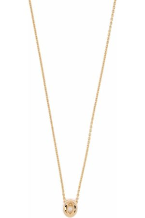 Le Gramme 18kt yellow gold 1g polished entrelacs pendant and chain necklace