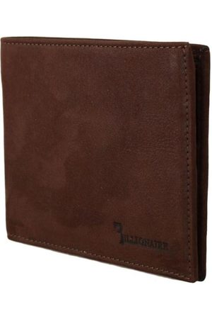 BILLIONAIRE Couture Brown Leather Bifold Wallet