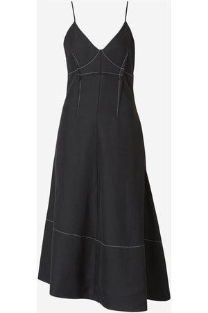 Jil Sander Asymmetrical Canvas Dress