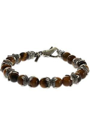 EMANUELE BICOCCHI Mænd Armbånd - Tiger Eye Beaded Chain Bracelet