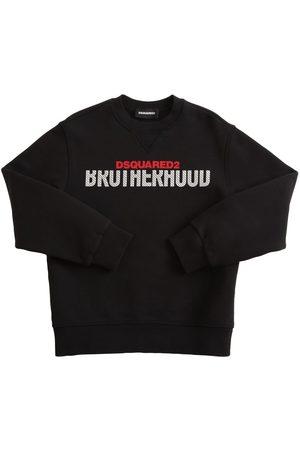 Dsquared2 Drenge Sweatshirts - Logo Print Cotton Sweatshirt