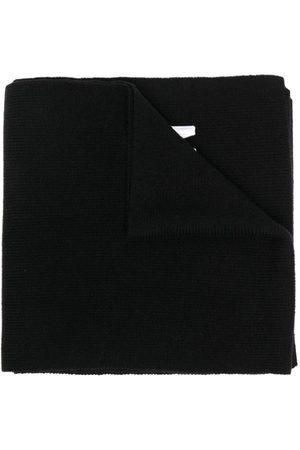 Dsquared2 Ribstrikket tørklæde med broderet logo