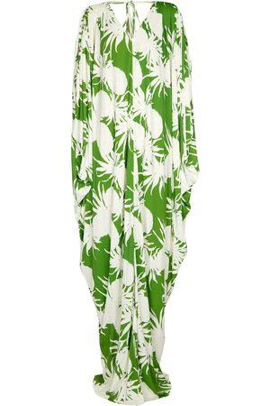 Oscar de la Renta Kvinder Strandtøj - Printed jersey gown