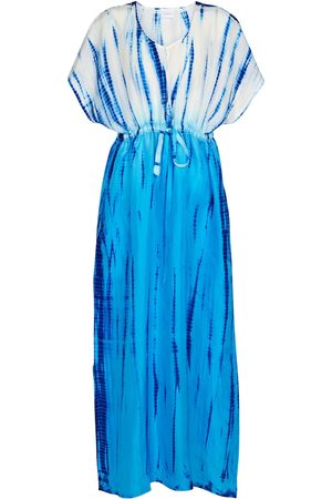 Anna Kosturova Kvinder Kimonos - Tie-dye silk kaftan