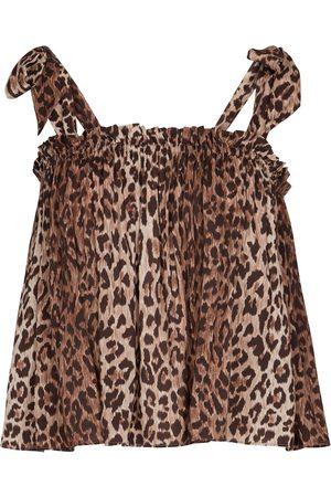 RIXO London Kvinder Natkjoler - Pamala leopard-print camisole