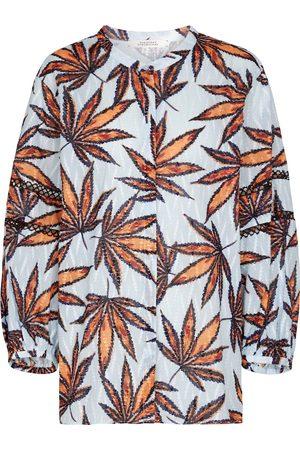 Dorothee Schumacher Kvinder Bluser - Fantasy Leaves printed cotton blouse