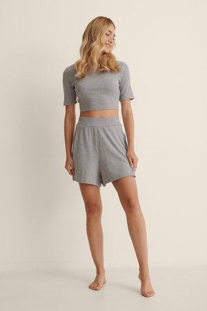 NA-KD Kvinder Shorts - Ribbede Vide Shorts Af Genanvendt Materiale
