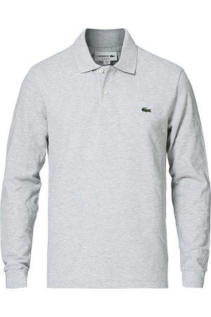 Lacoste Mænd Poloer - Long Sleeve Original Polo Grey