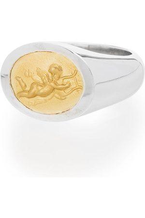 Shola Branson Mænd Ringe - Cupid ring i 14 karat guld og sterling sølv