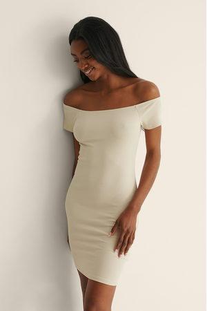 NA-KD Kvinder Casual kjoler - Recycled Off sholder Ribbed Dress