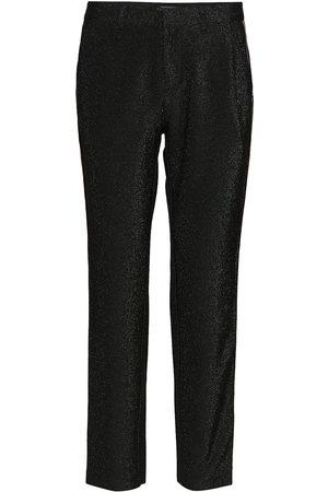 Scotch&Soda Kvinder Habitbukser - Lurex Tailored Pants With Tape Detail Slimfit Bukser Brun