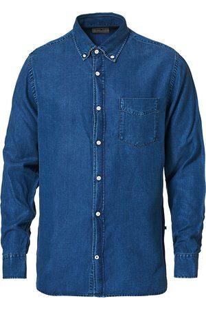NN07 Mænd Denimskjorter - Levon Tencel Denim Shirt Dark Indigo