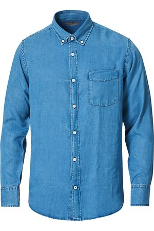 NN07 Levon Tencel Denim Shirt Light Blue