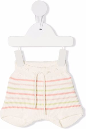 Knot Striped ribbed-knit bloomers