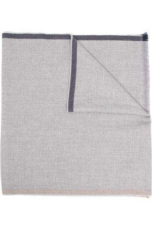 Brunello Cucinelli Mænd Tørklæder - Uldtørklæde med frynset kant