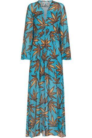 Dorothee Schumacher Translucent leaves printed maxi dress