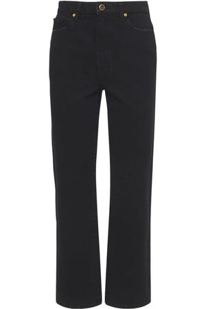 Khaite Abigail High Waist Straight Crop Jeans