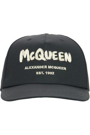 Alexander McQueen Mænd Kasketter - Graffiti Logo Nylon Baseball Cap