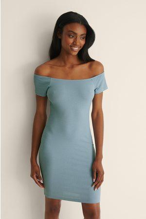 NA-KD Kvinder Casual kjoler - Recycled Off shoulder Ribbed Dress