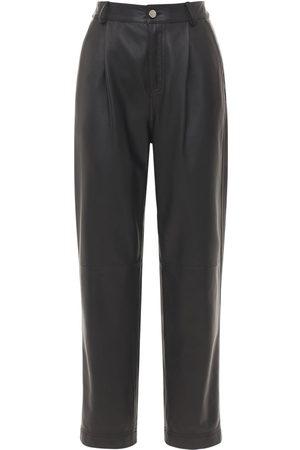RED Valentino Kvinder Skindbukser - Straight Soft Leather Pants