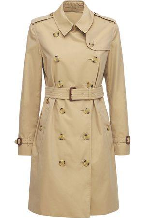 Burberry Kvinder Trenchcoats - Mid-length Kensington Canvas Trench Coat