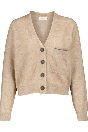 Brunello Cucinelli Kvinder Cardigans - Mohair and wool-blend cardigan