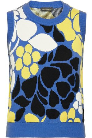 STINE GOYA Yarrow, 1210 Banana Leaf Knit Vests Knitted Vests Multi/mønstret