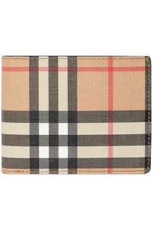 Burberry Mænd Punge - Foldepung i vintage-ternet læder