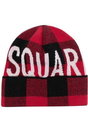 Dsquared2 Mænd Huer - Intarsiastrikket hue med logo