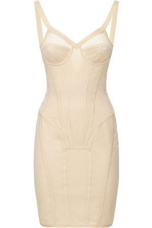 Burberry Nova Nylon Bustier Midi Dress