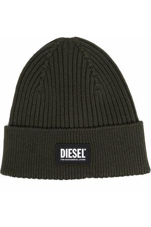 Diesel Huer - Ribstrikket hue med logomærke