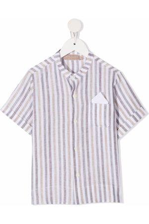 La Stupenderia Drenge Kortærmede skjorter - Stribet skjorte med korte ærmer