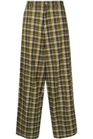 UNDERCOVER Skotskternede bukser med brede ben