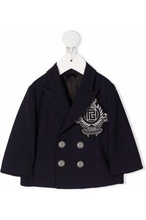 Balmain Baby Blazere - Dobbeltradet jakke med broderi