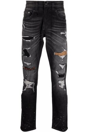 R13 Mænd Straight - Distressed-finish straight-leg jeans