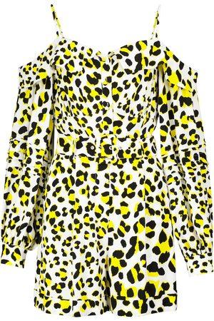 Diane von Furstenberg Kvinder Jumpsuits - Susanna leopard-print crêpe jumpsuit