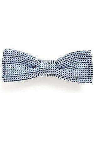 HUGO BOSS Micro-patterned bow tie in silk jacquard