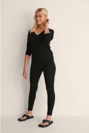 NA-KD Kvinder Leggings - Højtaljede Bløde Strømpebukser I Genanvendt Materiale