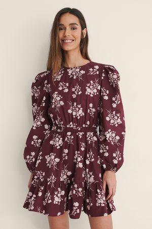 NA-KD Kvinder Casual kjoler - Langærmet Skjortekjole Med Elastisk Talje