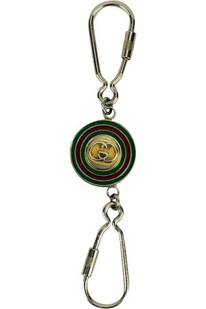 Gucci Vintage GG Logo Double Keyring Key Ring with Box