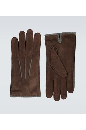 Loro Piana Baby Handsker - Suede and baby cashmere gloves