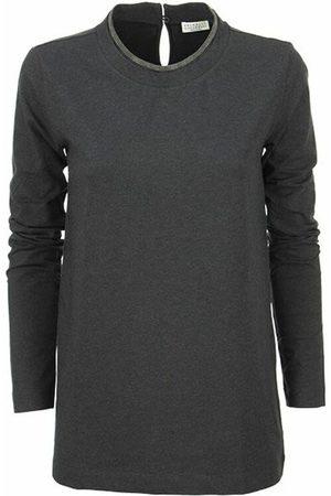 Brunello Cucinelli Mænd Langærmede - Jersey T-shirt with monile